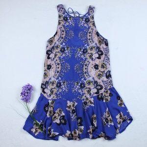 Free People Boho Ruffle Sleeveless Slip Dress